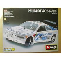 Metalkit Peugeot 405 Raid Burago Para Montar Na Caixa
