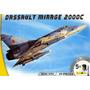 Heller-avião Dassault Mirage 2000c C/tintas(5), Pincel E Col