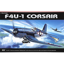 Avião F4u-1 Corsair Academy Kit Tipo Revell E Tamiya 1/72