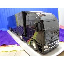 Caminhão Carreta Preto Bau Comp. 67cm Larg=11cm A=17cm