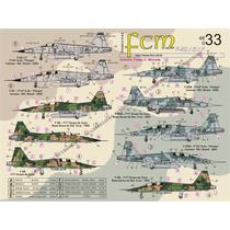 Decais 1/48 Fcm Northrop F-5b/e/em/f/fm Sete Versões Fab