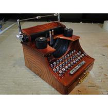 Maquina De Escrever Musical E Gaveta Porta Joias