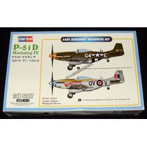 Caça Aliado Segunda Guerra P-51 D Mustang Kit 1/48 Hobbyboss