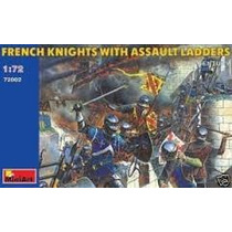Soldados French Knights With Assault Ladders Miniart 1/72