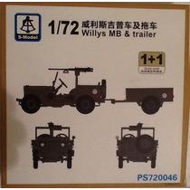 S-model 1/72 Willys Mb & Trailer