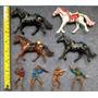 Lote 4 Cavalos E Cavaleiros Escala 1:24 ~ 1:25