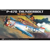 Academy - Avião P-47d Thunderbolt Bubble Top