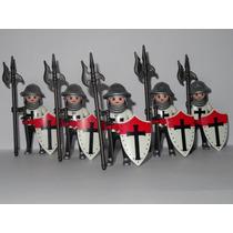 Playmobil Medieval Figures Série 8 Templário Monte Sua Tropa