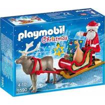 Playmobil 5590 Papai Noel E Trenó. (set De Natal) Novo