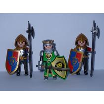 Playmobil Medieval Figures Série 8 Rei Guerreiro + 2soldados