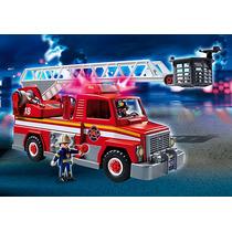 Playmobil Caminhão De Bombeiro Com Escada 5980 - Sunny