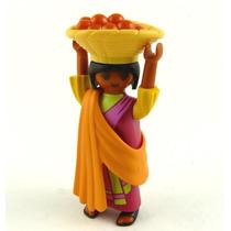 Playmobil Figures Série 5 Egito Egipcia Com Cesto De Frutas