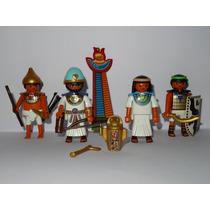 Playmobil Egito Faraó & Nefertiti + 2 Soldados Egípcios