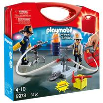 Playmobil - Maleta Bombeiros 5973 Pronta Entrega
