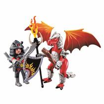 Playmobil Dragão De Fogo Com Guerreiro 5463