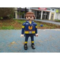 Playmobil Personagem Policial Avulso Blusa Com F