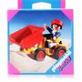 Boneco Playmobill - Especiais - Carro Amarelo Com Caçamba