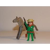 Playmobil Velho Oeste - Trol - Cowboy E Cavalo