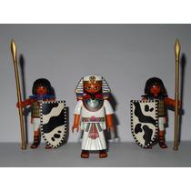 Playmobil Egito Trio = Faraó B + 2 Soldados Guerreiros