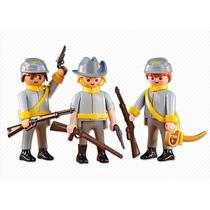 Playmobil Western Soldados Confederados Monte Sua Tropa 6276