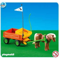 Playmobil 7493 Carroça Infantil Com Ponei Add On (raro)