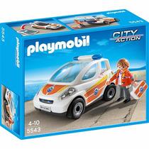 Playmobil City Action 5543 - Guarda Costeira Com Veiculo