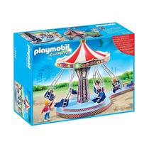 5548 Playmobil Parque De Diversões / Circo Gira-gira Voad...