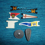 Playmobil-080 - 8 Pçs Bandeiras E Escudos Diversos Medievais