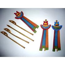 Playmobil-112 - Egito : 7 Peças - Bandeiras E Cajados Etc...