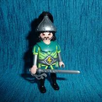 Brq - Playmobil Guerreiro Mongol De Verde