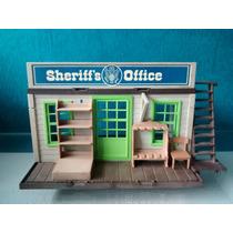 Playmobil Antigo Casa Xerife Década De 80 Velho Oeste
