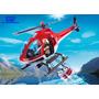 Helicóptero De Combate A Incêndio Playmobil 5617 C/ 24 Peças