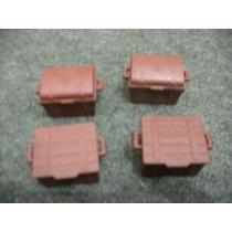 Playmobil - 4 Baús De Forte Apache Antigo Anos 80