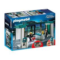 5177 Playmobil Cidade Banco Com Sistema De Seguranca