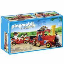 Playmobil Trenzinho Com Crianças Parque De Diversões