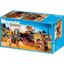 5248 Playmobil Velho Oeste Carroça Com Cowboys E Bandido