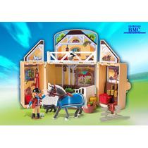 Estabulo Game Box Country Playmobil 5418 Original Com 84 Pçs
