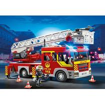 Playmobil City Action Unidade De Bombeiro Com Escada 5362