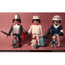 3 Réplicas Gigantes - Playmobil Xl - 21 Cm - Toy Art