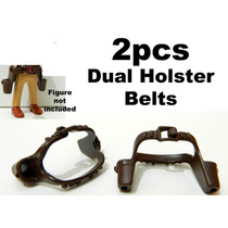 Playmobil-036 - 2 Cinturões Duplos De Cowboy - Marrom