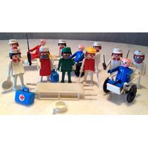 Playmobil Antigo Trol - Kit Hospital - Médicos E Pacientes