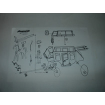 = Playmobil Manual Faroeste Diligência E Cavalo Frete Gratis