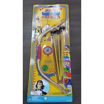 Arco E Flecha Brinquedo Indio Estilo Indiano Pica Pau Ref355
