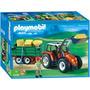 Playmobil 4496 - Trator Com Caçamba - Raríssimo