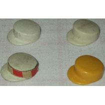 Playmobil Acessórios Lote1 C/4 Chapéus Garis Limpeza Pública
