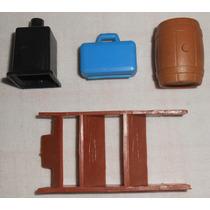 Playmobil Acessórios Lote Variado Barril Maletamédico Escada