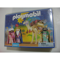 = Playmobil Natal = 3 Reis Magos Com Camelo Transporte 3997