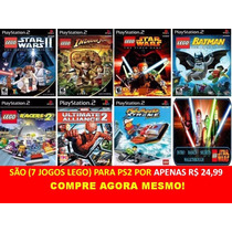 Lego Batman Ps2 (kit 7 Jogos Play Station 2 Infantil