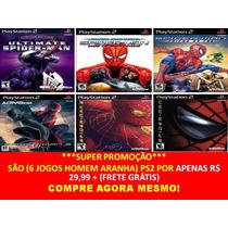Homem Aranha 3 Ps2 (kit 6 Jogos) Play Station 2