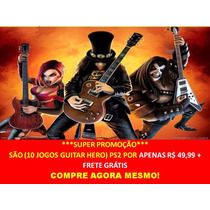 Guitar Hero The Best Of All Playstation 2 (kit 10 Jogos Ps2